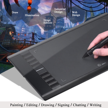 "Ugee M708 10"" * 6"" Ultra thin Smart Digital Tablet Digital Graphics Tablet Drawing Tablet Painting Drawing Pad For Designer(China)"