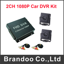 2CH 1080P SD Mobile DVR Recorder Including 2pcs 200MP AHD Inside Pinhole Car Camera H.264 MDVR(China)
