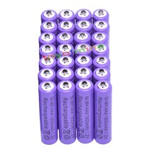 28x AAA 1800mAh 3A 1.2 V Ni-MH Purple Rechargeable Battery Cell for MP3 RC Toys