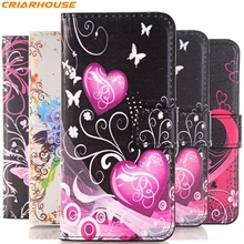 For Samsung Galaxy S8 plus S3 S4 S5 mini S6 EDGE NOTE 3 4 S7390 S7562 9082 A3 G350 I8552 pu leather phone case butterfly flip(China)