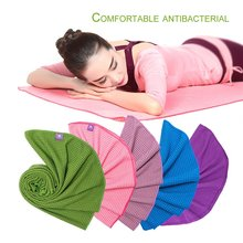 PIERYOGA Comfortable High Density Fiber Quick Drying Sport Yoga Mat Anti-Slip Design Antibacterial Bath Yoga Blanket Mat(China)