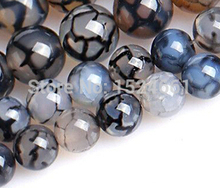 diy    Black and white dragon  beads wholesale crystal beads 8mm 45pcs DIY set lapis lazuli  beads round