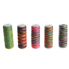 5PCS Sewing Machine Threads Overlocking String Polyester Colorful All Purpose Sewing Threads Apparel Sewing Fabric Arts Crafts(China)