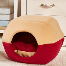 Fashion Pet Dog Cat Bed Tent House All Seasons Dirt-resistant Soft Yurt Bed with Double Sided Washable Cushion Pet Product S4N30