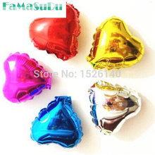1pcs 10'' Heart Shape Balloons 7 Colors Foil Balloon Birthday/New Year/party Wedding Decoration Balloon Make A Proposal(China)