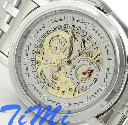 New Mens Valued Fashion AUTOmatic Watches Skeleton Date<br><br>Aliexpress