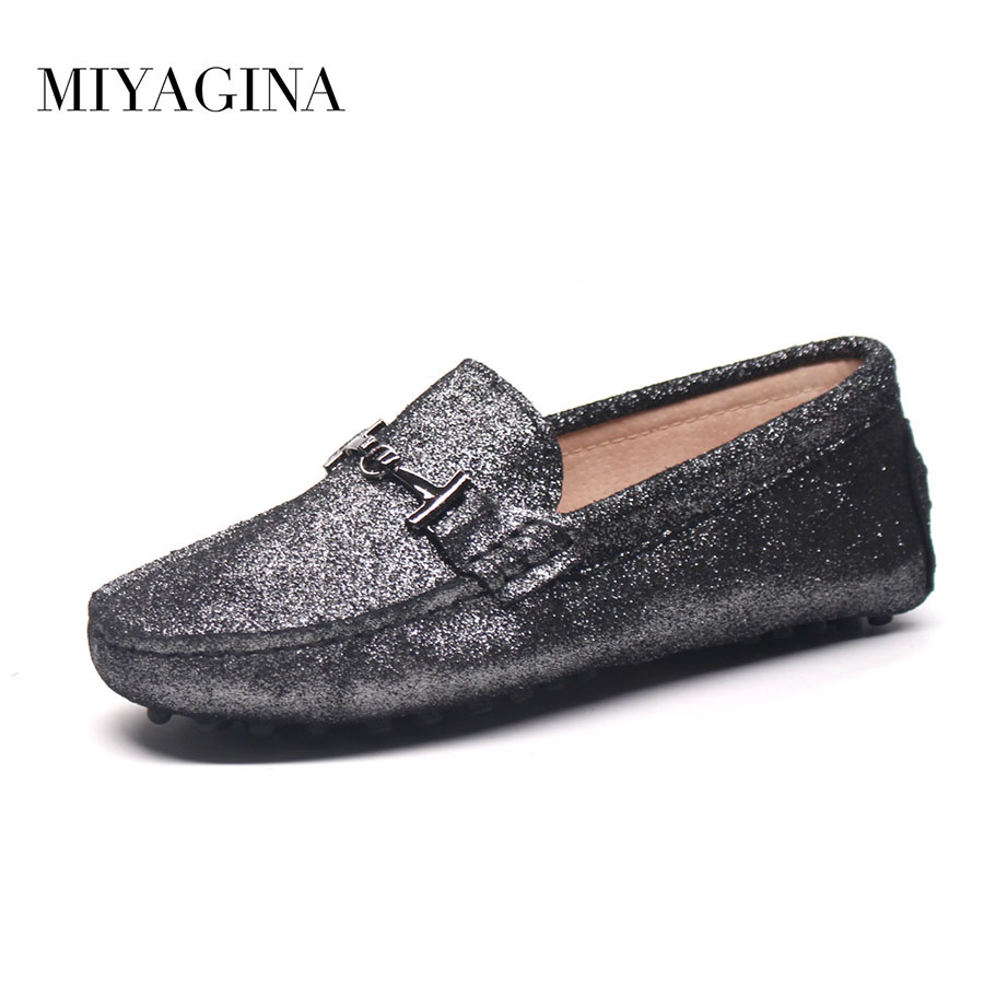 Spring Summer Women flats ladies slip on Moccasins genuine leather women shoes<br>