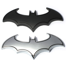 3D Cool Metal Bat man Auto Car Logo Cartoon Sticker Metal Badge Emblem Tail Decal Motorcycle Car Styling Decoration Accessories(China)