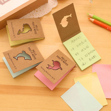 creative rainbow dolphin memo pad mini notepad notebook paper kawaii stationery papeleria school supplies