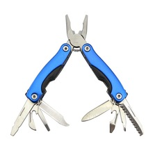 Outdoor Survival Stainless Steel 9 In1 Tool Plier Portable Pocket Mini Knit Compact Opener Knive(China)