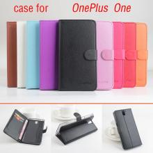 Litchi OnePlus one case cover, Good Quality New Leather Case + Soft Back cover For OnePlus 1 One Plus 1 OnePlus1 Cellphone Case(China)