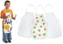 3PCS/LOT.Children's aprons,Paint unfinished canvas apron,Sleeveless apron,Kids aprons,38x59cm.Freeshipping.Wholesale.
