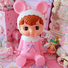 Hot New Japan Vintage Doll Baby Toy Piggy Bank Children Birthday Gift Home Decoration(China)