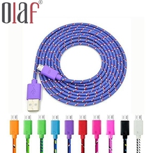 High Quality 1m 2m 3m Nylon Micro USB Cable Fast Charging Mobile Phone Cable For Samsung Nexus LG HTC Huawei Xiaomi &More