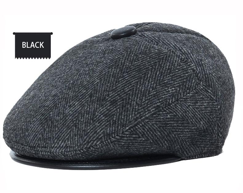 Großhandel Zglywr Baskenmütze Caps Für Männer Vintage Woolen Fleece ...