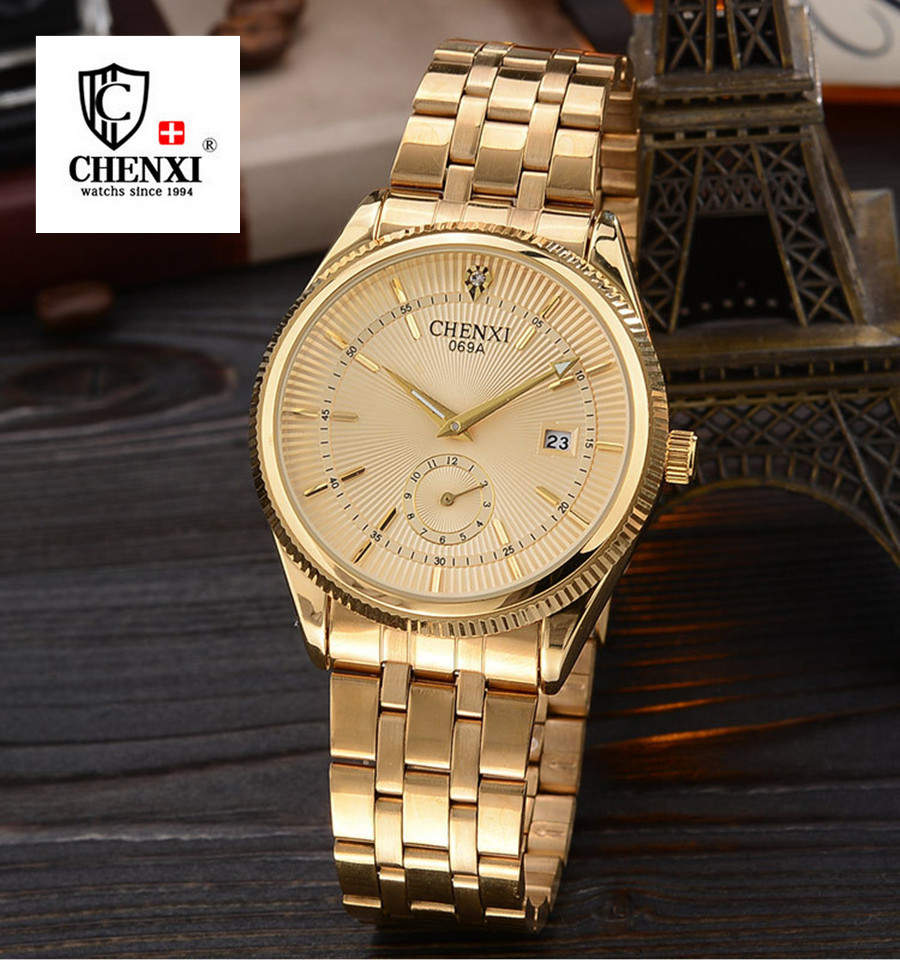 Top Brand Gold Watches Men Classic Business Wrist Watch Fashion Casual Clock Waterproof Quartz Watch Reloj Hombre Montre Homme<br><br>Aliexpress