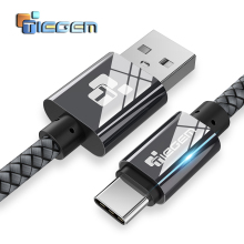 TIEGEM Nylon USB Type C Cable Type-C Fast Charging USB-C Data Cable Samsung Galaxy S8 Note 8 Nexus 5X 6P OnePlus 2 USB C