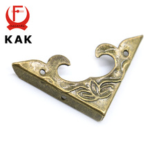 10PCS KAK 30mm x 30mm Book Scrapbooking Albums Corner Bracket Antique Brass Decorative Protectors Crafts For Furniture Hardware