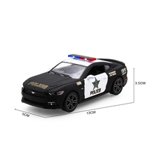 diecasts toy vehicles Police Alloy Model Car Brand New 1:38 Ford 2006 Mustang GT Pull Back Vehicle Toy Collection Gift For Boy