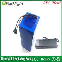 ebike battery 24V 70Ah lithium ion rechargeable battery pack for ebike,storage energy or solar power,UPS with 5A fast charger