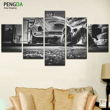 Canvas Painting Living Room Wall Art Poster Frames In Modular Prints 5 Panel Car Repairing Vintage Decoration Pictures PENGDA