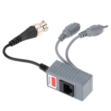 CCTV Camera Audio Video Balun Transceiver BNC UTP RJ45 Video Balun with Audio Video and Power over CAT5/5E/6 Cable