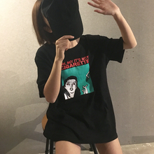 Korean Style Character Printed Letter All Match Loose Oversize Basic Short Sleeve Female T-shirts