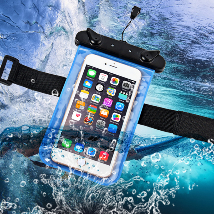 Waterproof Pouch Universal Mobile Phone Bag Swimming Case Easy Take Photo Underwater Lenovo A2010 A1000 A5000 P1 S1 C2 Vibe
