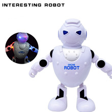 Hot Sale 360 Degree Rotation Smart Space Electric Robot Dancing Music Light Toys Best Creative Gift for Kids Children FL