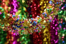 High Quality Thicken Christmas Xmas Tree Party 2m Tinsel Pink Green Silver Gold Red Blue Decorations Wedding Decoration