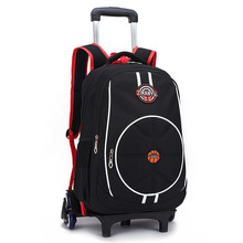 Trolley School Bag For Boys Portable Detachable Backpacks For Children Alloy Rod Bags Stairs Knapack Wheels Back Pack Bolsas(China)