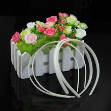 O123 Free Shipping 12pc White Fashion Plain Lady Plastic Hair Band Headband No Teeth Hair DIY Tool