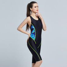 Women Sport Swimsuits Competitive Swimming Suits Girls Racing Swimwear One Piece Swim Suit Competition Swimsuit Knee Length 6002(China)