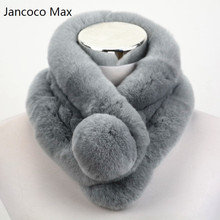 Jancoco Max 2016 Top Quality Lady Real Rex Rabbit fur scarf Women Winter Neck Warm shawl  Retail / Wholesale S1518WS