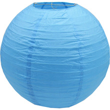 10pcs 25cm 10 inch sky blue Round Paper Lantern wedding party decoration(China)