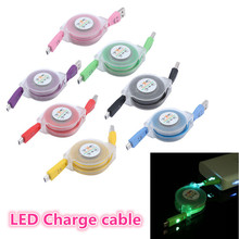 LED Light Durable Micro USB Cable Charger Data Sync Cord For Samsung Android phone 80cm