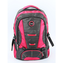 DURABLE Fresh Zipper 30L Polyester Travel Backpack Popular Best Quality Rose Red Teenage Student Schoolbag Fashion Hot sell
