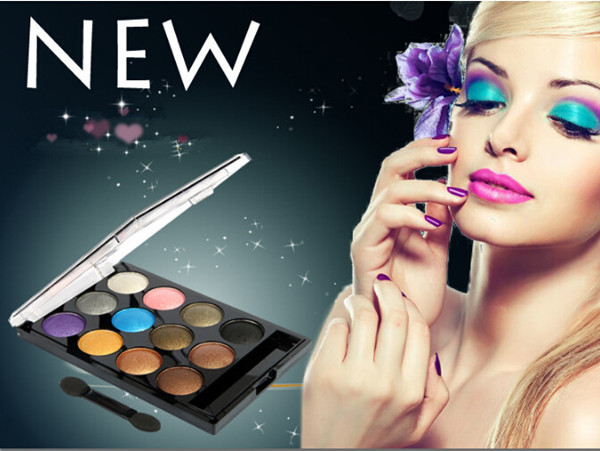 Hot Promotion 12 colors eyeshadow palette nake colorful makeup sets beauty and health makeup eye shadow palette(China (Mainland))