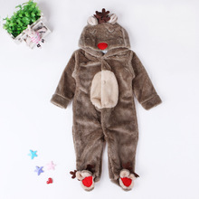 Winter 2017 Baby Boy Clothing Newborn Christmas Clothes Toddler Baby Halloween Infant Animal Costumes Moose Romper(China)