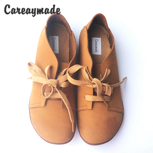 Careaymade-2017 new Genuine Leather pure handmade shoes, the retro art mori girl shoes,lady casual shoes Flats shoes,2 colors<br>