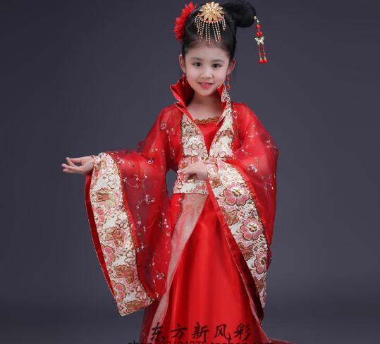 2017 hot Dress Girl Clothes Kids Costume Robe Fille Enfant China Stlye Plum Flower Dress Party Beach Korean Children Clothing<br><br>Aliexpress
