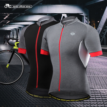 Santic Men Cycling Short Jersey Pro Fit SANTIC N-FEEL High Tech Fabric Road Bike MTB Short Sleeve Top Riding Shirt KJ6301H/G(China)