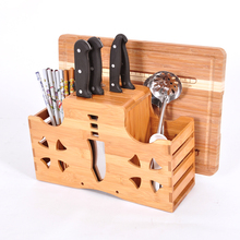Multifunction Wood Stand Knife Holder Chopping Blocks Fork Kitchen Knife Block Bamboo Knife Rack Kitchen Supplies