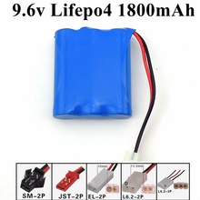 3s 9.6V 1800mAh Lifepo4 18650 9.6v rc battery not 9.6v nimh battery replace 1600mah for Remote Control Truck tank RC toys kit(China)