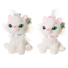 1pc 18CM Selling Product Cute Aristocats Cat Marie Plush Toys Anime Animal Paw Kit Doll For Girls(China)