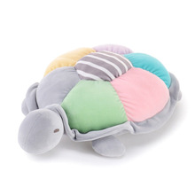 Metoo Plush  Sea Turtle  Pillow Dolls Soft Stuffed Cartoon Pillow Colorful Toys Cushion New Design Gifts for Kids Girls 30*36cm