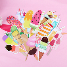 30PCS Cute Dessert Drinks Shape Paper Bookmark Labels Memo Bookmarks Message Card Stationery School Supplies