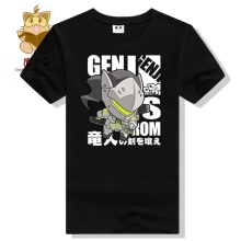 Cute OW character Genji tee shirt genji lovely version high quality t shirt OW fans shirt gift for gamers ac319