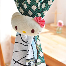 Cute Cartoon Cat Curtain Buckle Tiebacks Holder Window Drapery Hooks Cute Curtain Tieback Fastener Curtain Poles Kawaii(China)