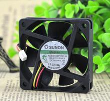 Wholesale: original SUNON KDE2406PHV1-A 24V 1.7W 6015 60*60*15mm 3 line mute fan(China)